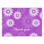 La violeta del verano le agradece cardar tarjetas