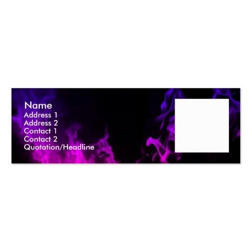 La violeta flamea II Plantilla De Tarjeta De Negocio