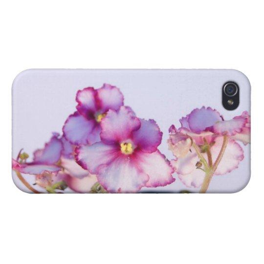 La violeta florece la caja mate del final del iPhone 4 fundas