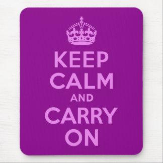 La violeta guarda calma y continúa alfombrilla de ratón