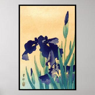 La violeta japonesa del ukiyo-e del vintage clásic póster