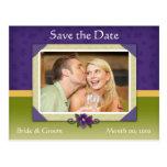 La violeta y el verde ahorran las postales de la f
