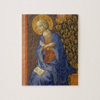 La Virgen anuncia, C. 1430 (el tempera en el panel Puzzle Con Fotos