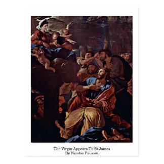 La Virgen aparece a San Jaime de Nicolás Poussin Tarjeta Postal