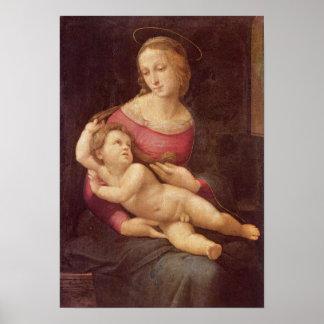 La Virgen (Bridgewater Madonna) por Raphael Poster