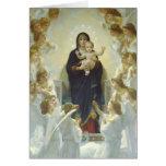 La Virgen con ángeles Tarjetón
