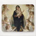La Virgen con Angels, 1900 Alfombrillas De Ratón