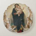 La Virgen con Angels, 1900 Cojín Redondo