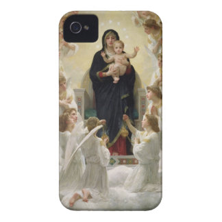 La Virgen con Angels, 1900 Case-Mate iPhone 4 Funda