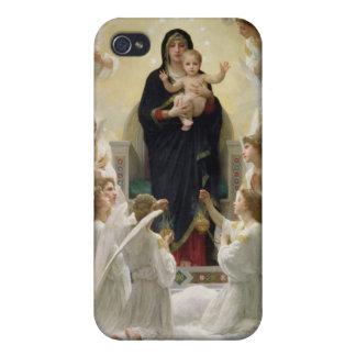 La Virgen con Angels, 1900 iPhone 4 Fundas