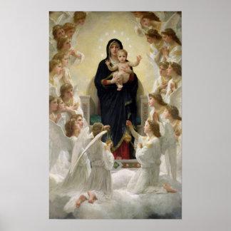 La Virgen con Angels 1900 Posters