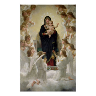 La Virgen con Angels, 1900 Póster