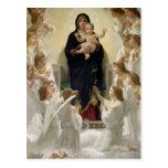 La Virgen con Angels, 1900 Tarjeta Postal
