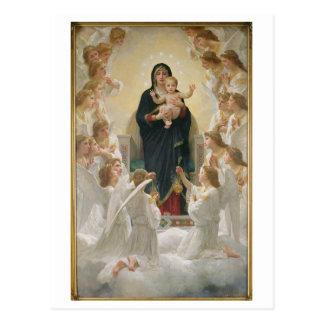 La Virgen con Angels, 1900 Postal