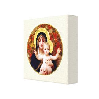 """""""La Virgen de la lona envuelta bella arte de los l Impresion En Lona"""