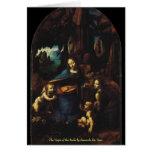 La Virgen de las rocas de Leonardo da Vinci Felicitacion