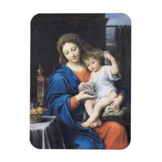 La Virgen de las uvas, 1640-50 Iman Rectangular