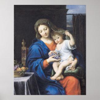 La Virgen de las uvas, 1640-50 Póster