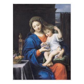 La Virgen de las uvas, 1640-50 Tarjetas Postales
