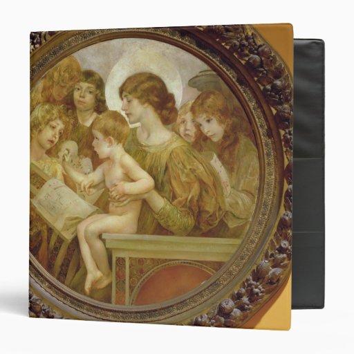 """La Virgen de los ángeles Carpeta 1 1/2"""""""