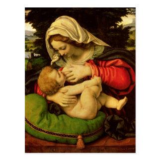 La Virgen del amortiguador verde, 1507-10 Tarjetas Postales