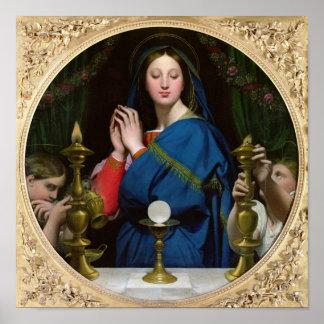 La Virgen del anfitrión, 1854 Poster