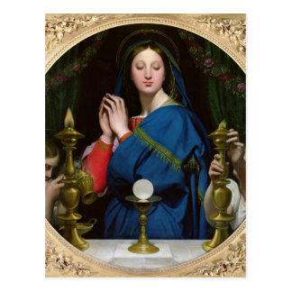 La Virgen del anfitrión, 1854 Postal