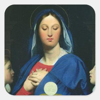 La Virgen del anfitrión, 1866 Pegatina Cuadrada