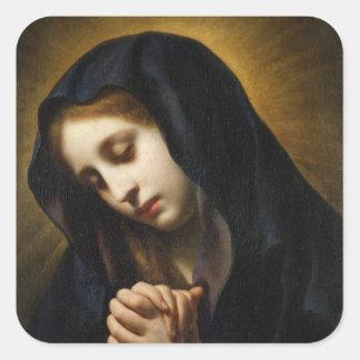 La Virgen del anuncio, c.1653-55 Pegatina Cuadrada