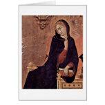 La Virgen del anuncio de Simone Martini Tarjeta