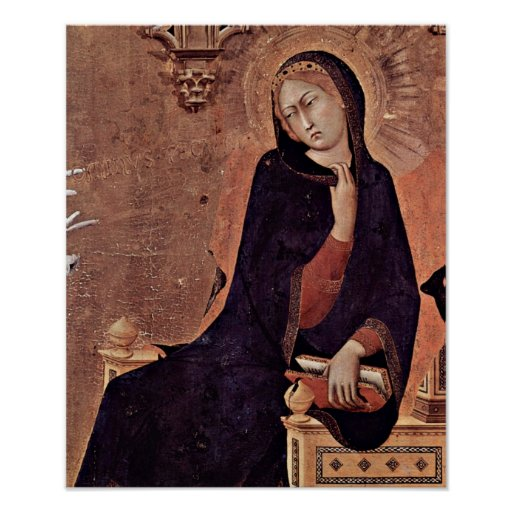 La Virgen del anuncio por el Si Póster
