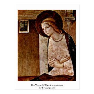 La Virgen del anuncio por Fra Angelico Postal