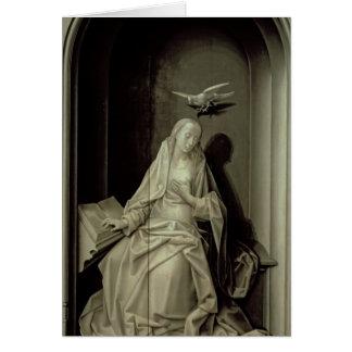 La Virgen del anuncio Tarjeta De Felicitación