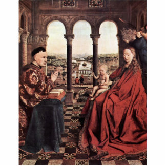 La Virgen del canciller Rolin. En enero Van Eyck ( Fotoescultura Vertical