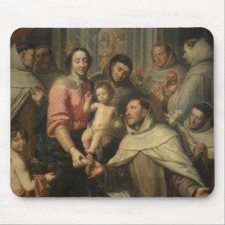 La Virgen del Carmelites Tapete De Ratones