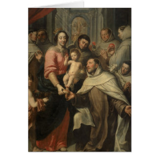 La Virgen del Carmelites Tarjetón