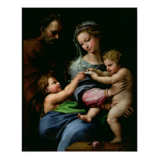 La Virgen del color de rosa, c.1518 Póster