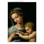 La Virgen del color de rosa, c.1518 Tarjeton
