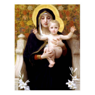 La Virgen del Lillies Tarjeta Postal
