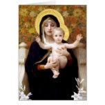 La Virgen del Lillies Tarjetas