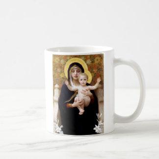 La Virgen del Lillies Tazas
