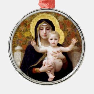 La Virgen del ornamento del navidad de los lirios Ornamentos Para Reyes Magos