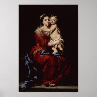 La Virgen del rosario, c.1650 Póster