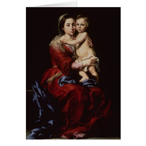 La Virgen del rosario, c.1650 Tarjeton
