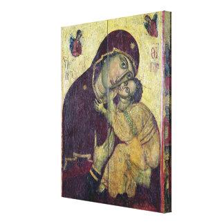 La Virgen Eleousa, de Nessebar Lienzo Envuelto Para Galerías