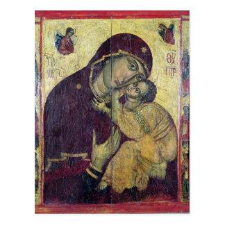 La Virgen Eleousa, de Nessebar Tarjeta Postal