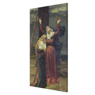 La Virgen en el pie de la cruz Impresiones En Lona Estiradas