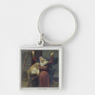 La Virgen en el pie de la cruz Llaveros