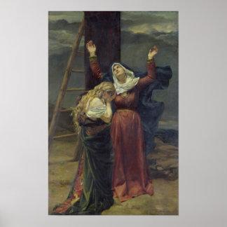 La Virgen en el pie de la cruz Póster