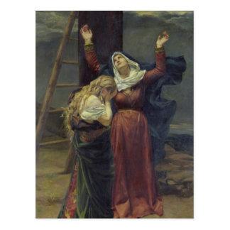 La Virgen en el pie de la cruz Postales